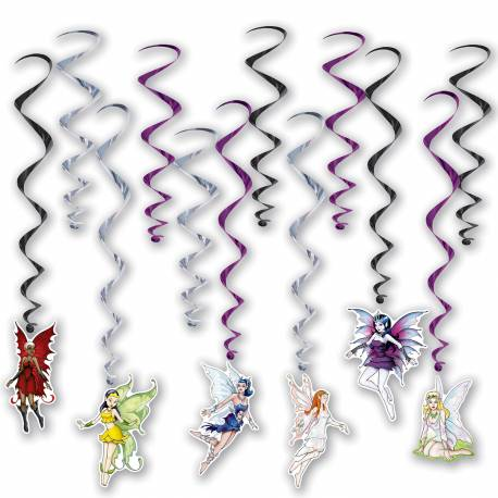 12 suspensions en cartonfée pour décorer la salle de votre soirée fantastique Dimesnions : longueur 76cm x L 43cm Impression recto verso