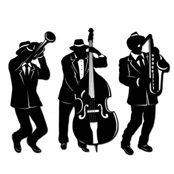Décor Silouhette Jazz Trio