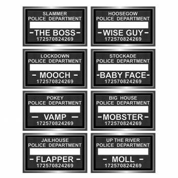 8 étiquettes police