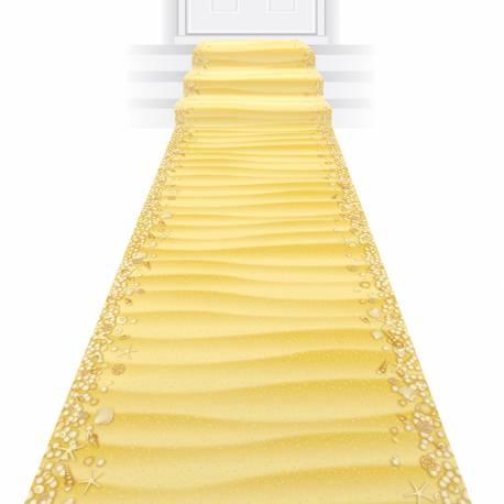 Rouleau représentant un décor de sable avec coquillage idéal pour l'entrée de votre salle pour une fête thème estivale Dimensions: 60 cm...