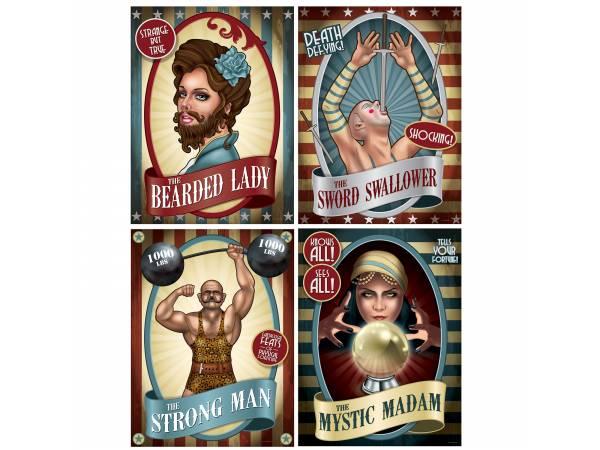 Affiches artiste vintage circus