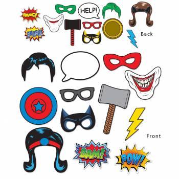 12 décors super héros photobooth
