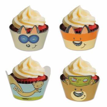 8 Wraps à cupcakes woodland friends