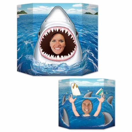 Point photo Requin pour prendre des photos inoubliables de vos invités lors de vos fêtes d'anniversaire ! Point photo en carton rigide...