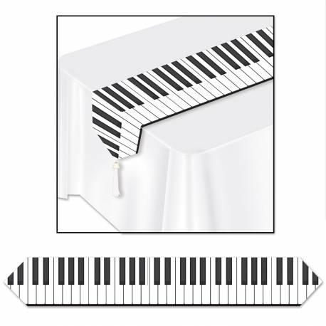 Chemin de table jetable Musique pour la décoration de vos tables de fête et anniversaire à thème. Dimensions: 1.80 mètre x 30 cm