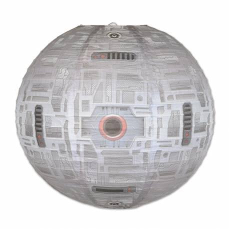 Lanterne en papier impression station spatiale pour la deco de votre salle de fête. Dimensions : Ø40cm