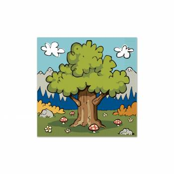 16 Serviettes woodland friends