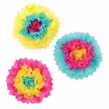 Assortiment de 3 boules froufrous flower