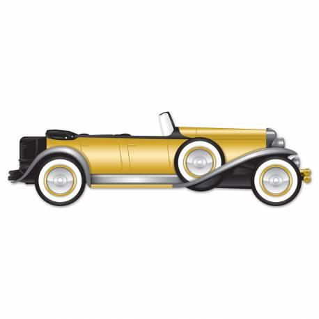 Décor voiture Gatsby en carton à fixer sur vos murs Dimensions: 130 cm x 33 cm
