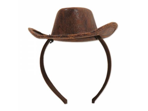 Serre tête chapeau cow boy