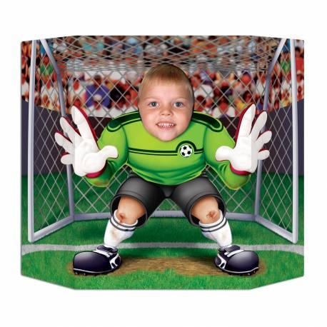Point photo en carton rigide sur le thème foot pour vos fêtes et anniversaire. Dimensions: 94 cm x 64 cm