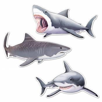 Assortiment 3 Requins en carton