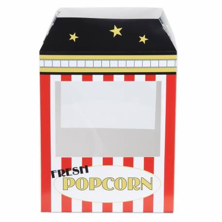 Superbe centre de table en forme de machine à Pop Corn pour la déco de vos anniversaires sur le thème du cirque, cinéma, fête foraine......