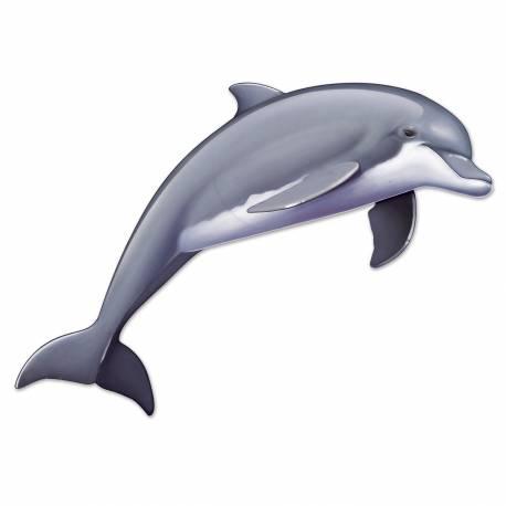 Décors dauphin géant en carton à fixer sur vos murs pour la décoration de vos salles de fête. Dimensions : 50 cm x 15 cm