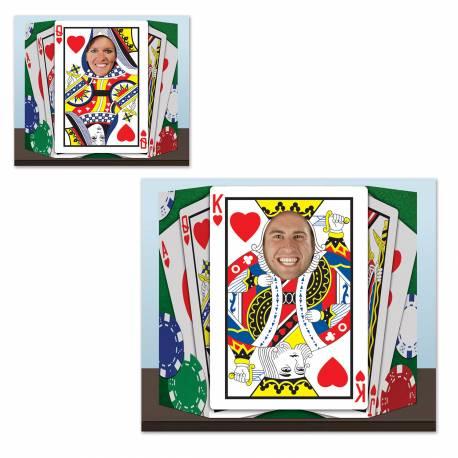 Pour prendre des photos inoubliables de vos invités ! Point photo en carton rigide sur le thème casino Dimensions: 94 cm x 64 cm