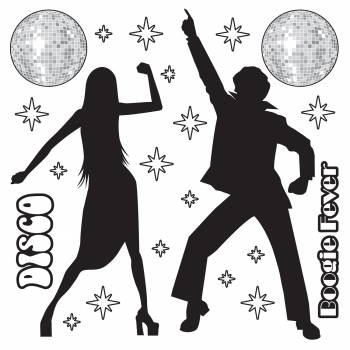 Silhouette personnages Disco