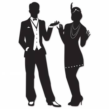 Décor Silhouette personnages Gatsby