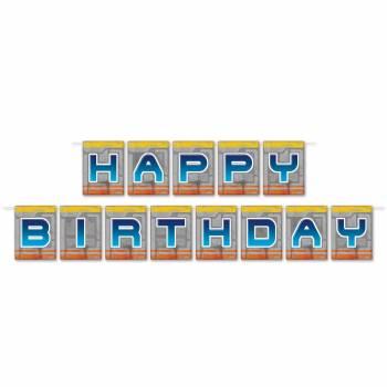 Banderole Happy Birthday spatial