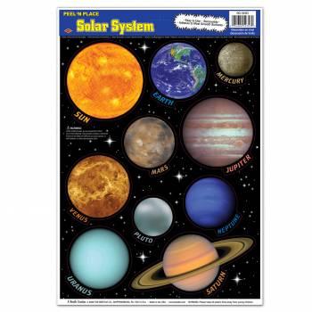 10 Planètes système solaire autocollantes