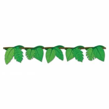 Guirlande en carton feuilles jungle