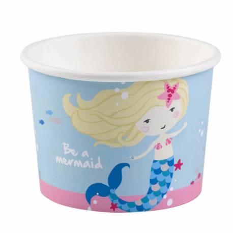Pots à glace ou à bonbons idéal pour la deco de table d'un anniversaire sur le thème sirène 27cl