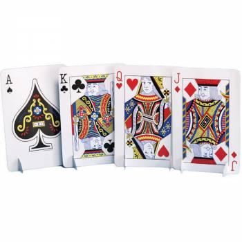 4 decors cartes de jeux geante