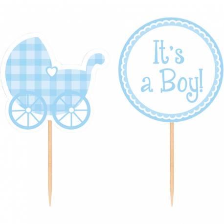 12 Pics déco à cupcakes Baby boy