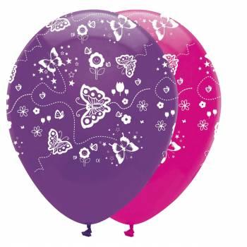 ballons latex papillons