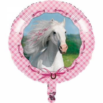 Ballon hélium Cheval girly