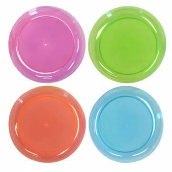 20 assiettes fluo néon assortis