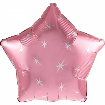 Ballon hélium étoile rose