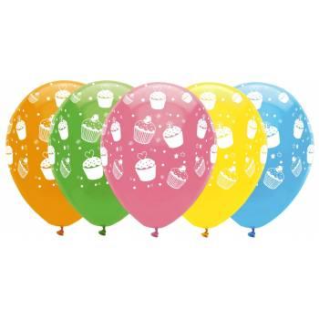 ballons latex cupcakes
