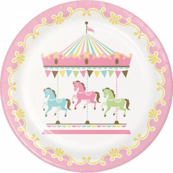 8 Assiettes carrousel