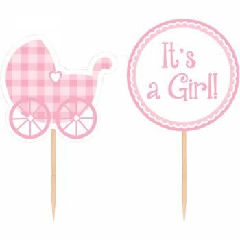 pics deco cupcakes baby girl