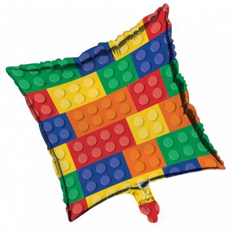 Ballon en aluminiumthème Block party pour la décoration anniversaire des passionnés de Lego Ballon à gonfler avec ou sans hélium (à...