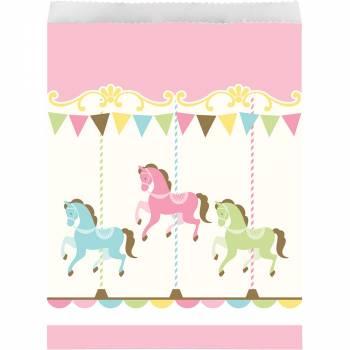 10 sachets en papier carrousel