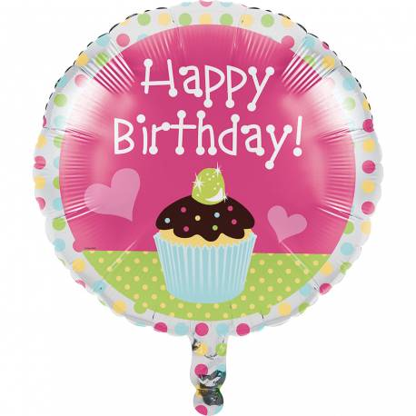 Ballon anniversaire géant cupcake party pour une belle deco d'anniversaire. Prix mini et expédition le jour même. Ballon en...