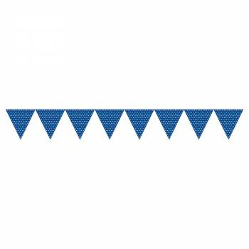 guirlande de fanions polka bleu