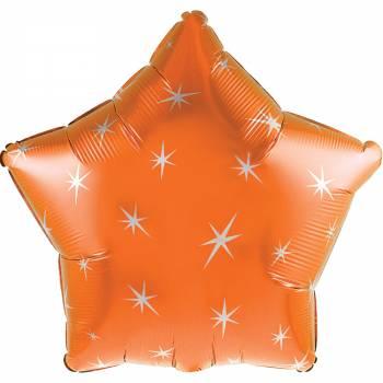 Ballon hélium étoile orange