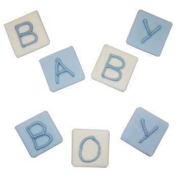 jouets cube en sucre baby bleu