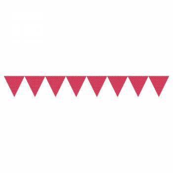 guirlande de fanions polka rouge