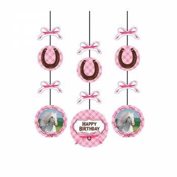 3 Suspensions Cheval girly