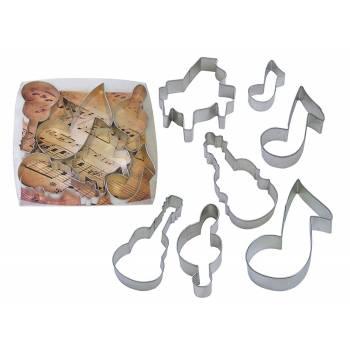 Kit 7 Emporte pièces thème Musique
