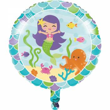 Ballon hélium Belle sirène