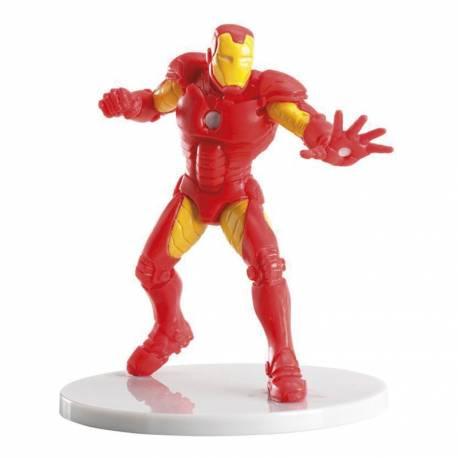 Figurine Iron Man en plastique pour la décoration de vos gâteaux d'anniversaire Dimensions : 9 cm