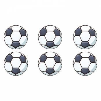16 Mini disques en sucre Ballons de foot