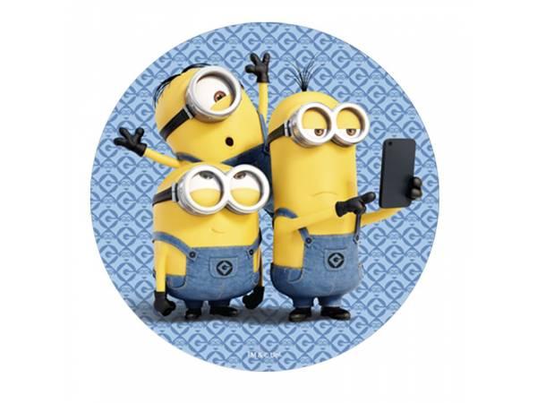 Disque azyme Minions selfie- deco de gâteau