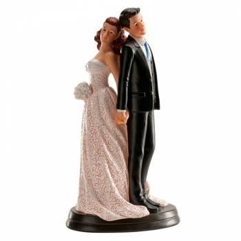Figurine Mariés Dos à dos 20 cm
