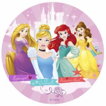 Disque en sucre 16cm Princesses Disney