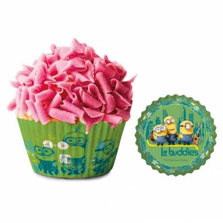 Paquet de 50 caissettes à cupcakes thème Les MinionsA utiliser avec 1 moule à muffinsDimensions : Ø 5 cm x H 3 cm